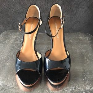 Carlo Pazolini brown and Black patent heels